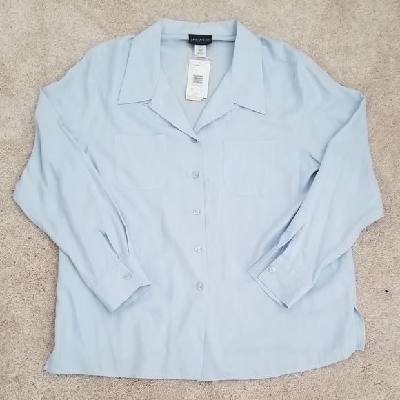 e5476962 Bridgetown Collection Tops | Nwt Womens Light Blue Buttonup Blouse ...